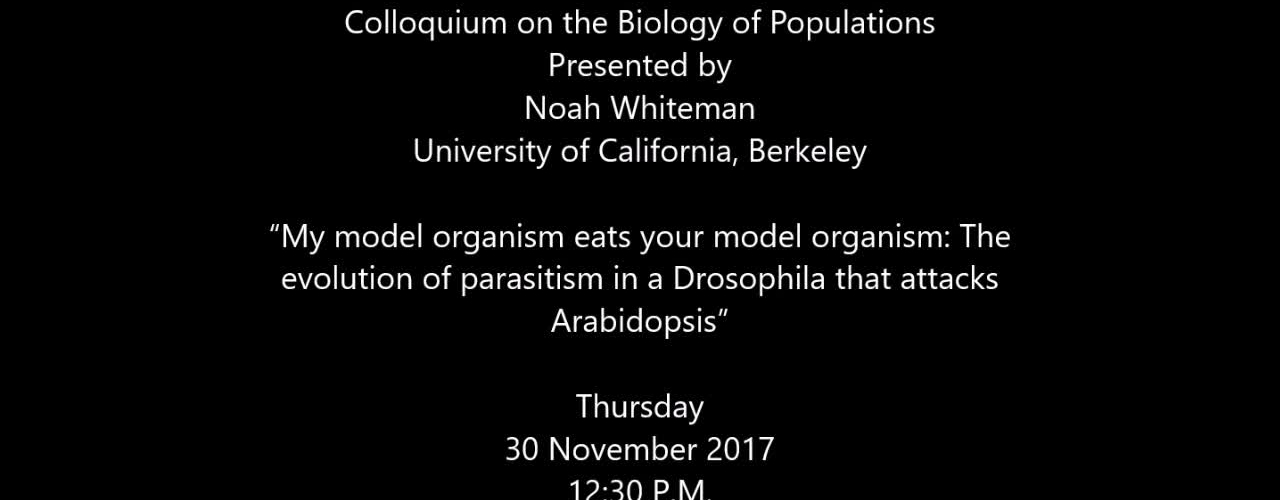 """My model organism eats your model organism: The evolution of parasitism in a Drosophila that attacks Arabidopsis"""
