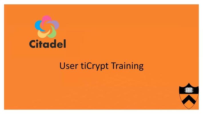 Citadel End User Training