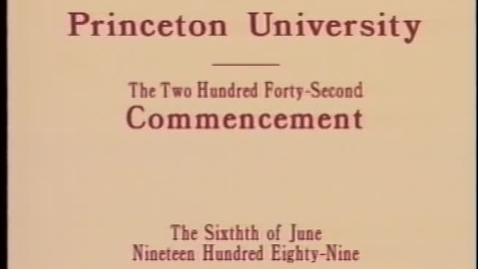 Thumbnail for entry 242nd Commencement - June 6, 1989