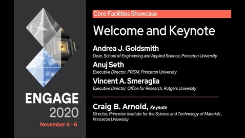 Thumbnail for entry New Jersey  Core Facilities Showcase: Welcome and Keynote by Craig Arnold