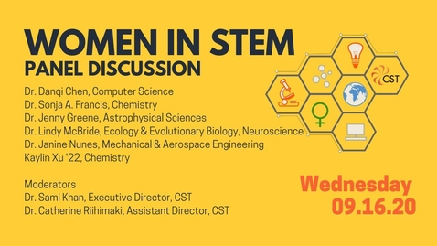 Thumbnail for entry Women in STEM Panel Discussion 2020