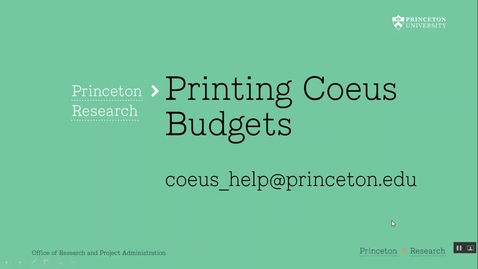 Thumbnail for entry 4.10 Printing Coeus Budgets