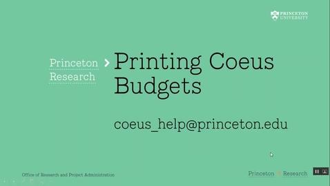 Thumbnail for entry 4.10 Printing Coeus Budgets