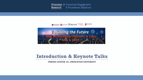 Thumbnail for entry Smart Cities May 2019: Keynote Speakers