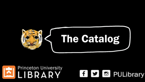 Thumbnail for entry How to use the Library catalog