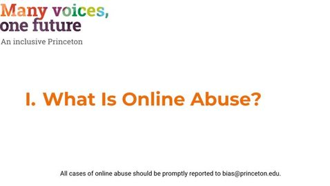 Thumbnail for entry I. What is Online Abuse?