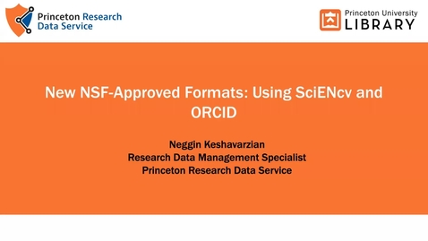Thumbnail for entry Getting started with SciENcv + ORCID