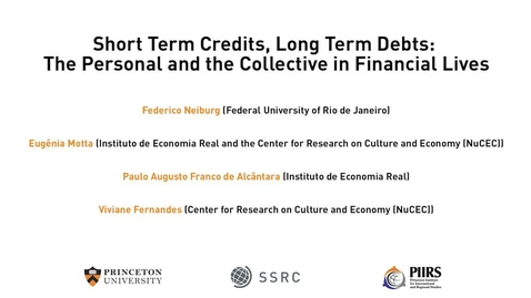 Thumbnail for entry The Dignity & Debt Network Conference - Short Term Credits, Long Term Debts: The Personal and the Collective in Financial Lives