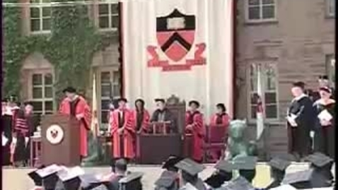 Thumbnail for entry Princeton University's 259th Commencement