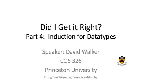 Thumbnail for entry cos326-2020-08-04-induction-datatypes
