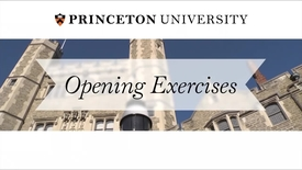 Opening Exercises 2015: A University Convocation