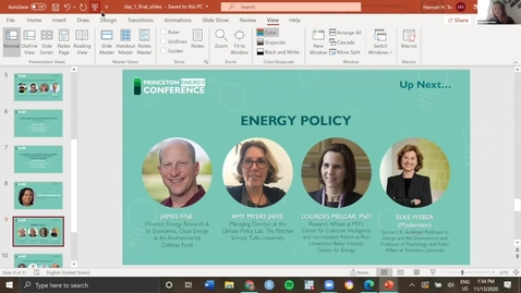 Thumbnail for entry PUEA 2020 Fall Conference Day 1: Panel 3 - Energy Policy