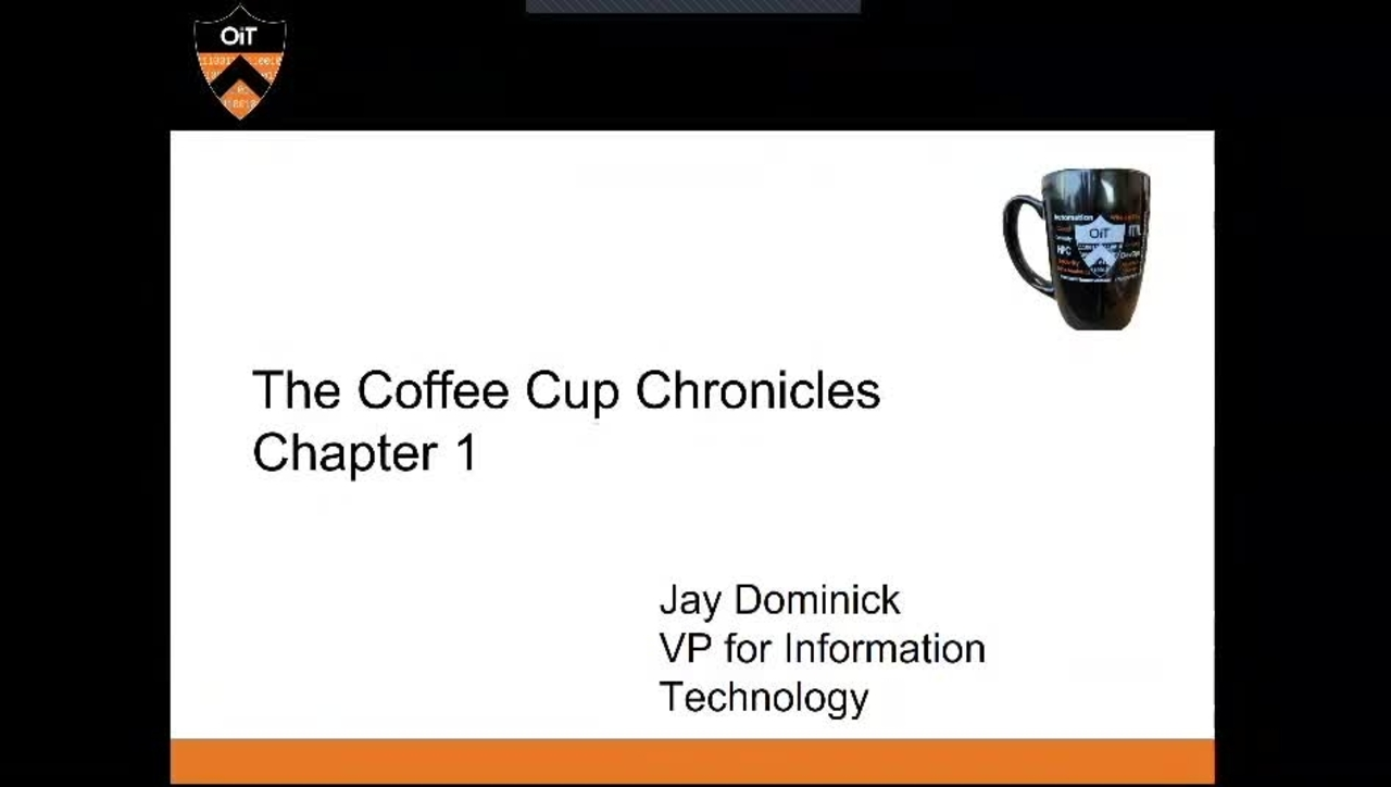 OIT Coffee Cup Chronicles 1: Automation