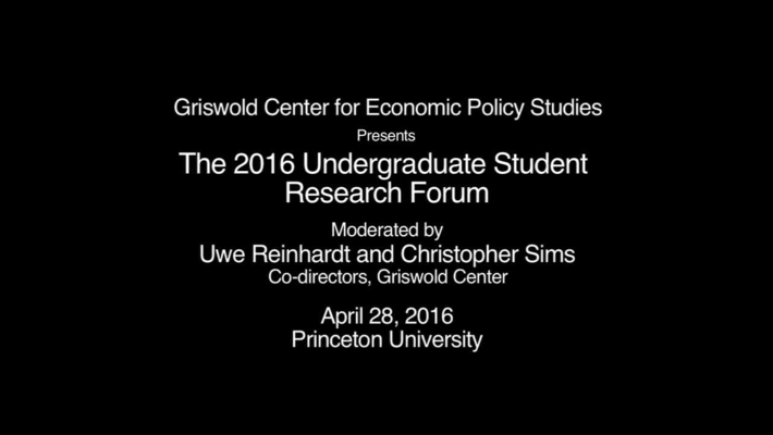 GRISWOLD STUDENT FORUM