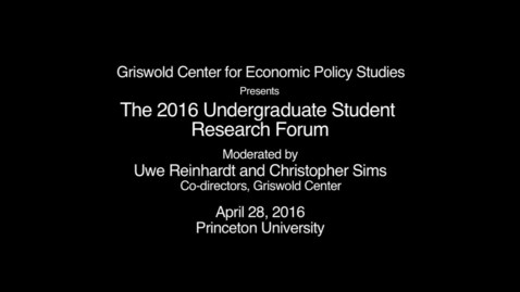 Thumbnail for entry GRISWOLD STUDENT FORUM