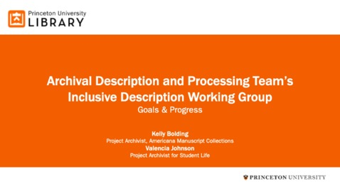 Thumbnail for entry  Inclusive Description Working Group: Goals and Progress