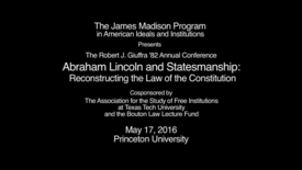 Thumbnail for entry Roundtable on Lincoln and the Challenges of Statesmanship in Our Time