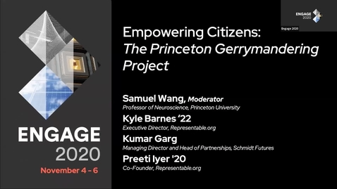 Thumbnail for entry Empowering Citizens: The Princeton Gerrymandering Project
