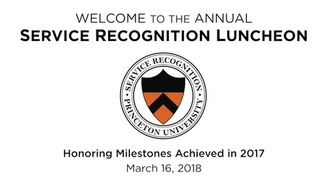Thumbnail for entry 2018 Human Resources Service Recognition Luncheon