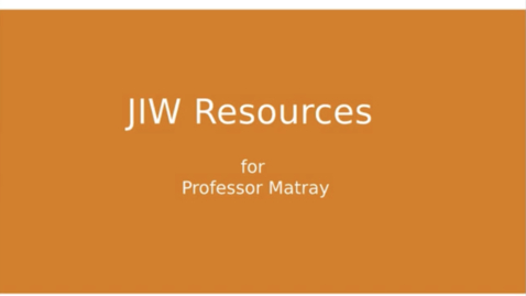 Thumbnail for entry JIW Finance Data Resources (Professor Matray)