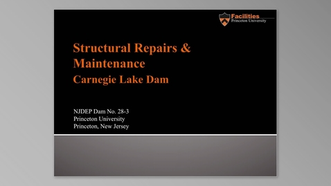 Thumbnail for entry Carnegie Lake Dam Repair