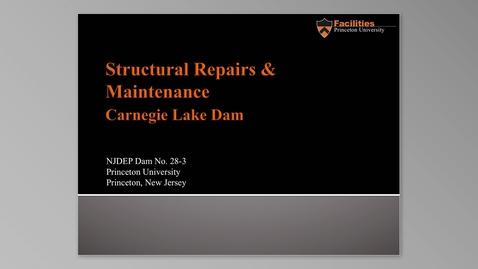 Thumbnail for entry Carnegie Lake Dam Repair