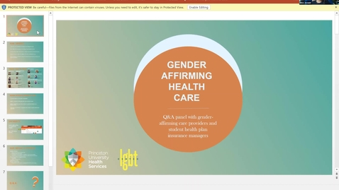 Thumbnail for entry Gender Affirming Health Care: Meet the Providers Panel and Q&A