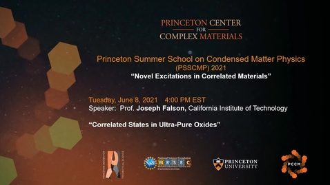 Thumbnail for entry Correlated States in Ultra-Pure Oxides