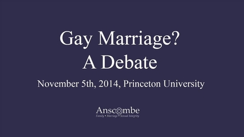 Thumbnail for entry Gay Marriage? A Debate