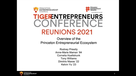 Thumbnail for entry Overview of the Princeton Entrepreneurial Ecosystem