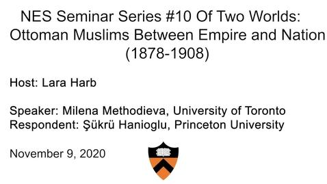 Thumbnail for entry Near Eastern Studies Seminar #10
