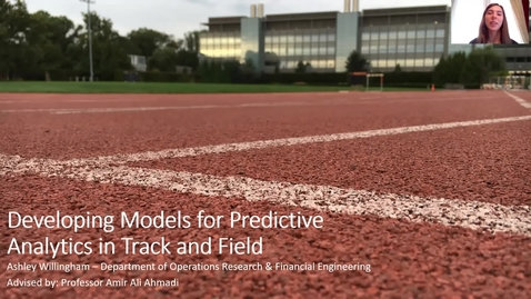 Thumbnail for entry Developing Models for Predictive Analytics in Track and Field