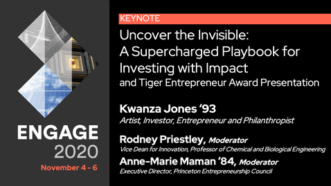 "Thumbnail for entry Kwanza Jones on, ""Uncover the Invisible: A Supercharged Playbook for Investing with Impact"""