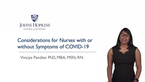 Thumbnail for entry Nurses and COVID-19