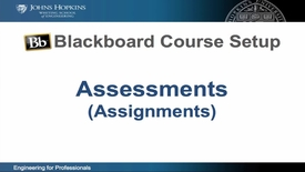 Thumbnail for entry Bb Course Setup - Assessments