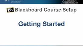 Thumbnail for entry Bb Course Setup - Getting started