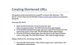 Thumbnail for entry Creating Shortened URLs