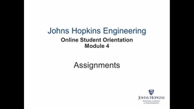 Thumbnail for entry Orientation Module 4 - Assignments.mp4