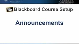 Thumbnail for entry Bb Course Setup - Announcements