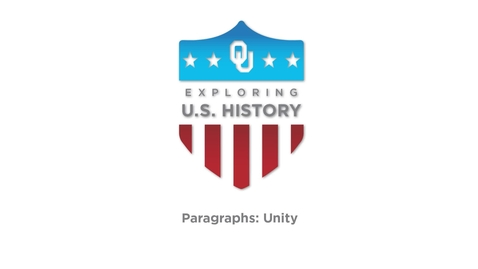 Thumbnail for entry Paragraph Unity - Writing Tutorial, US History, Dr. Robert Scafe