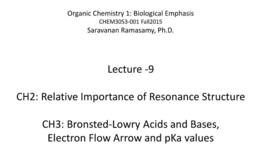 Thumbnail for entry Lecture 9 - Resonance Contributor - Acid Base - pKa Values [CHEM3053-001 Fall15]