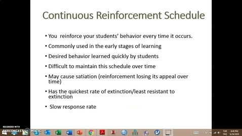 Thumbnail for entry Video Lecture Series#24 Operant Conditioning and classroom management-5