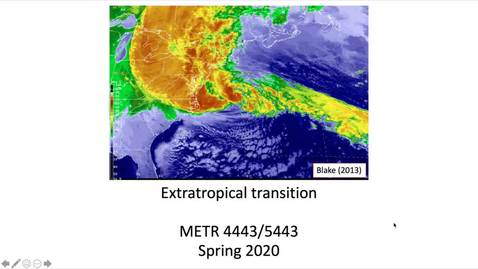 Thumbnail for entry Guest Lecture: Extratropical Transition of TC (Part 1)