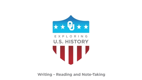Thumbnail for entry Reading and Note - Taking, US History Writing Tutorial, Dr. Robert Scafe