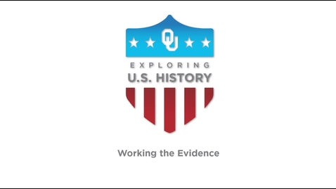 Thumbnail for entry Working the Evidence, US History Writing Tutorial, Dr. Robert Scafe (v.1)