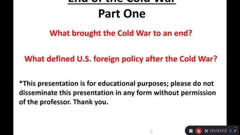 Thumbnail for entry April 27:  The End of the Cold War - Part One