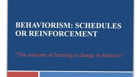 Thumbnail for entry schedules of reinforcement