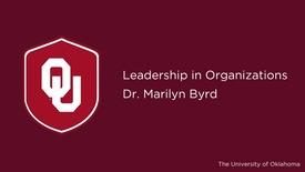 Thumbnail for entry Dr. Marilyn Byrd, Leadership in Organization