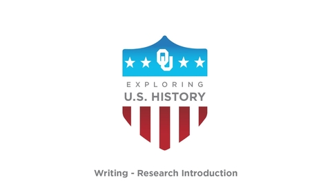 Thumbnail for entry Research Introduction - Writing Tutorial, US History, Dr. Robert Scafe