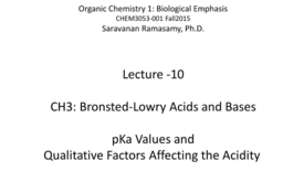 Thumbnail for entry Lecture 10 - Acids and Bases - pKa Values and Qualitative Factors [CHEM3053-001 Fall15]